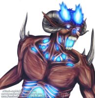 Rin Okumura Titan Form - REQUESTED - by NarutoXSakuraLOVE