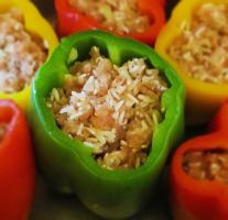 Stuffed Peppers by Kitteh-Pawz