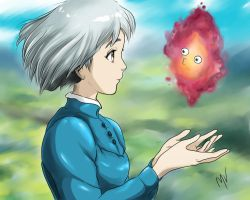 Sophie and Calcifer by MelNV