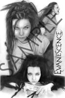 """""""Evanescence"""" Amy Lee by Graphite-Wizzard"""