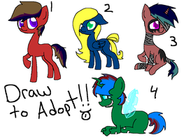 Draw To Adopts (CLOSED) by FallenFateAdopts
