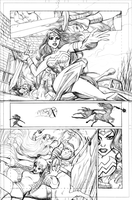 Pencil Samples - Wonder Woman 3 by LucianoVecchio