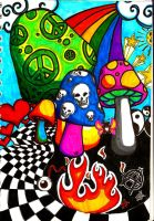 more colors and mushrooms.... by InstigatorOfMadness