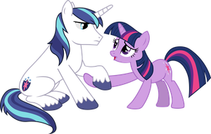 Twilight Sparkle Helps Shining Armour Up by BobtheLurker