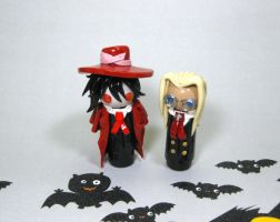 Wobbles: Alucard and Integra by okapirose