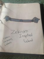 Zekrom Inspired Wand by Dog-Lover81