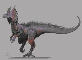 Great Jaggi, the Dog Wyvern by Halycon450