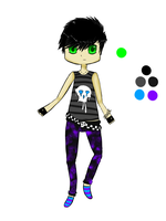Boy- Silhouette Palette Adopt (SOLD) by xTrippingOnYoux