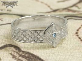 Silver Ring of Mara set with Aquamarine by PeregrineStudios