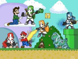 Castle Crashers vs Mario Land by The-Cartoonist