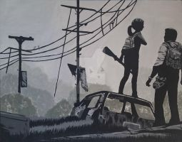 The Last of Us acrylic painting by Jokerluvr