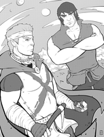 Galaxia's Ryan and Janus, For Smolb by EzJedi