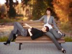 Taking a rest on park bench by pnn32