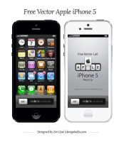 Free Vector Apple iPhone 5 Mock Up by Designbolts