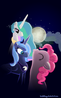 Three Pony Moon by DeathPwny