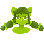 little green cat by Martha-Chan