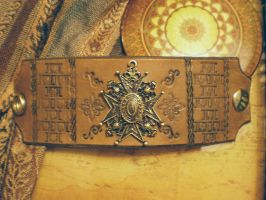 Steampunk cuff: Regal Cross by Broadsword21