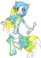 Miki as Wii:D by miki-the-fox