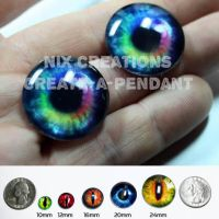 Rainbow Glass Eyes for Jewelry by Create-A-Pendant