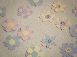 Flower Gift Tags Papercraft by ChibiSayuriEtsy