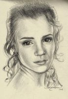 Hermione - Portrait Practice #0007 by Fjalldis