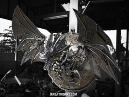 Metal Dragon Lamp by Kreatworks