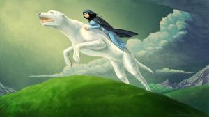 Huan and Luthien by AlyonaDF