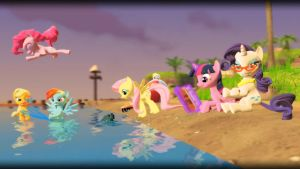 Mane Six's Summertime by TBWinger92