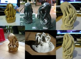 Cthulhu Idol Sculpture Collective by Cryptdidical