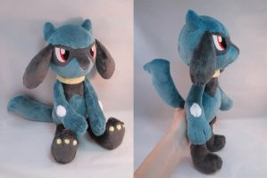 Riolu Plush by makeshiftwings30