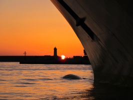 Livorno Port Sunset by labronico7