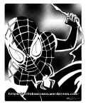 SPIDER-MAN (Miles Morales) black and white by EttoBascianoWorks