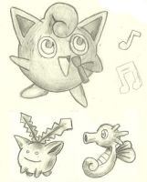 Cute Pokemon Group 01 by Amarath-of-the-Lake