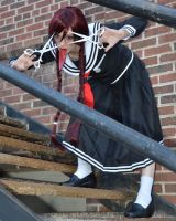 Genocider Syo Stairs by Fathergatto