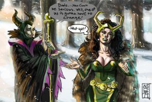 Maleficent And Loki by Uke-N-Melon