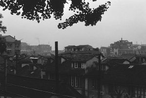 China Shanghai City 1970s by BlackWhitePictures