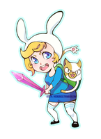 Adventure Time: Fionna and Cake by Neko6