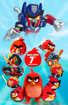 Angry Birds 7th Anniversary - Poster by Alex-Bird