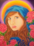 The Rose Madonna by Hurricane-Jeanne