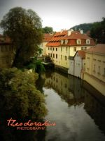 River in town by Theodorakis