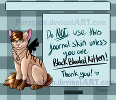 .:PC:. BlackBloodedKitten Journal Skin by Porygoon