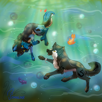 Kaiser and Feniix Diving by FoMNLiNX