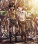 Hagir and Algar by MoonstalkerWerewolf