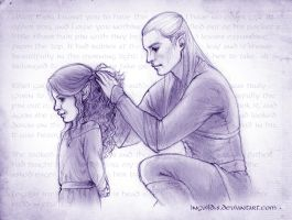 Kiliel and Legolas - Only a moment by Ingvild-S