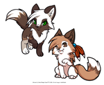 Chibi Kiara and Brieanna - Request by luna777