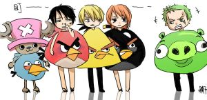 One Piece X Angry Birds by MMCoconut
