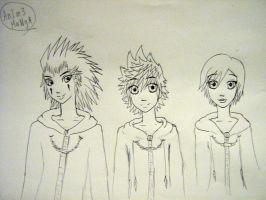 Axel,Roxas and Xion by AnIm3MaNgA