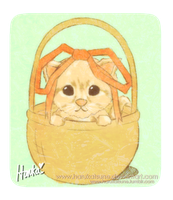 kitty in a basket by harukatsune