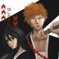 Bleach: Ichigo and Rukia by aoikiwi