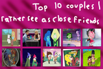 JayZeeTee's Top 10 Couples Rather Seen As Friends by JayZeeTee16